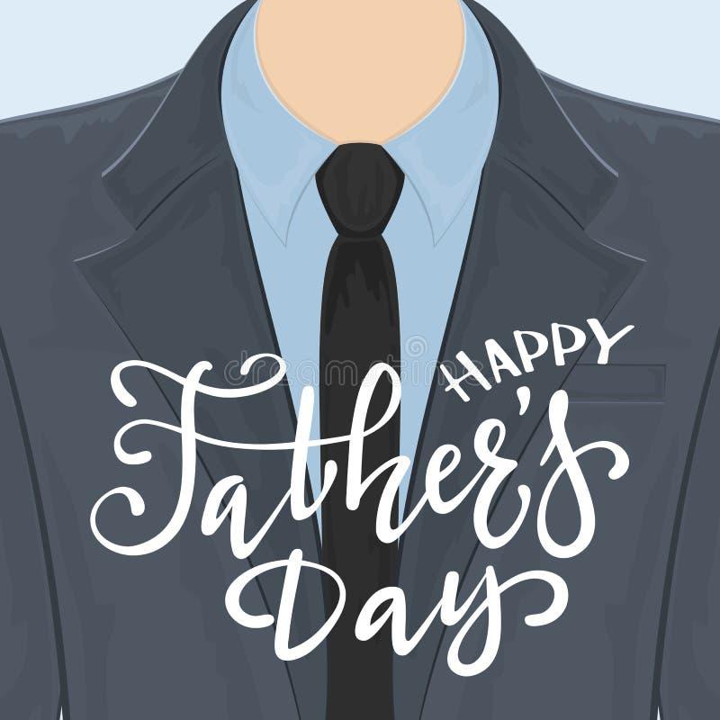 Счастливая поздравительная открытка дня отцов бесплатная иллюстрация