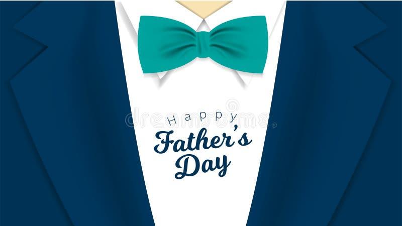 Счастливая поздравительная открытка каллиграфии Дня отца r иллюстрация штока