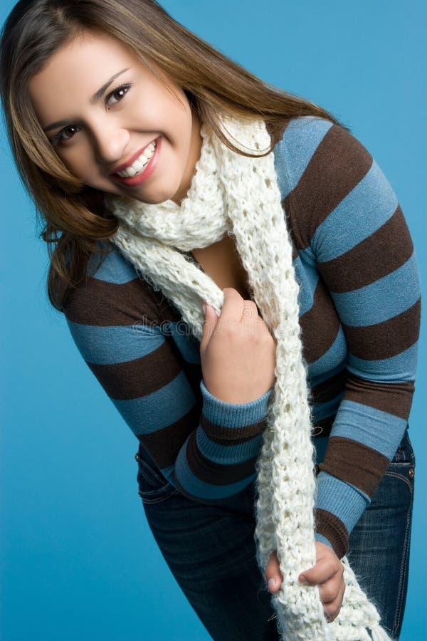 счастливая предназначенная для подростков зима стоковая фотография rf