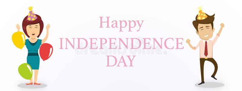 Счастливая предпосылка Дня независимости с человеком и женщинами стоковые фото