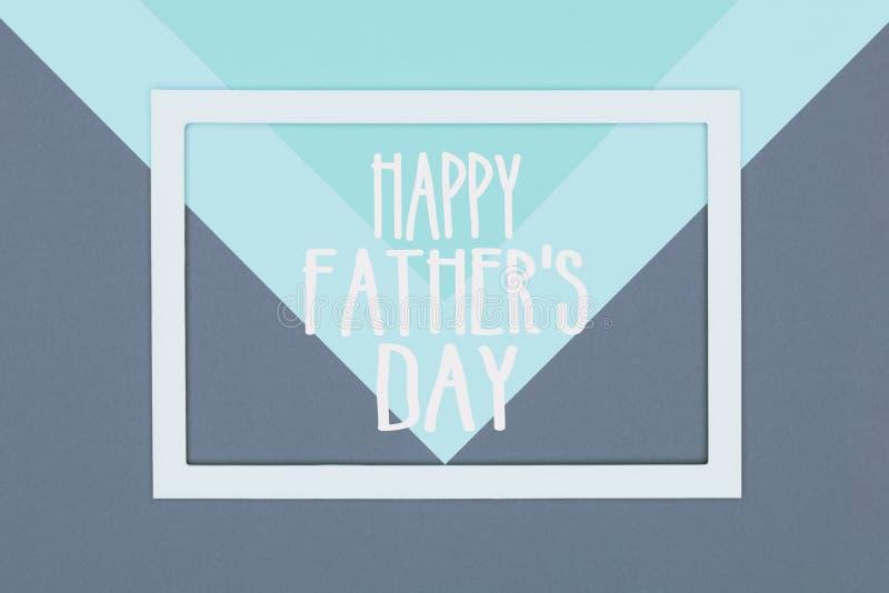 Счастливая предпосылка минимализма текстуры дня отцов пестротканая бумажная Поздравительная открытка дня отцов минимальных геомет стоковая фотография rf