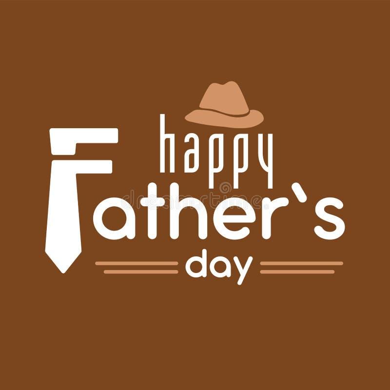 Счастливая предпосылка оформления вектора дня ` s отца, дизайн карточки, знамя плаката иллюстрация штока