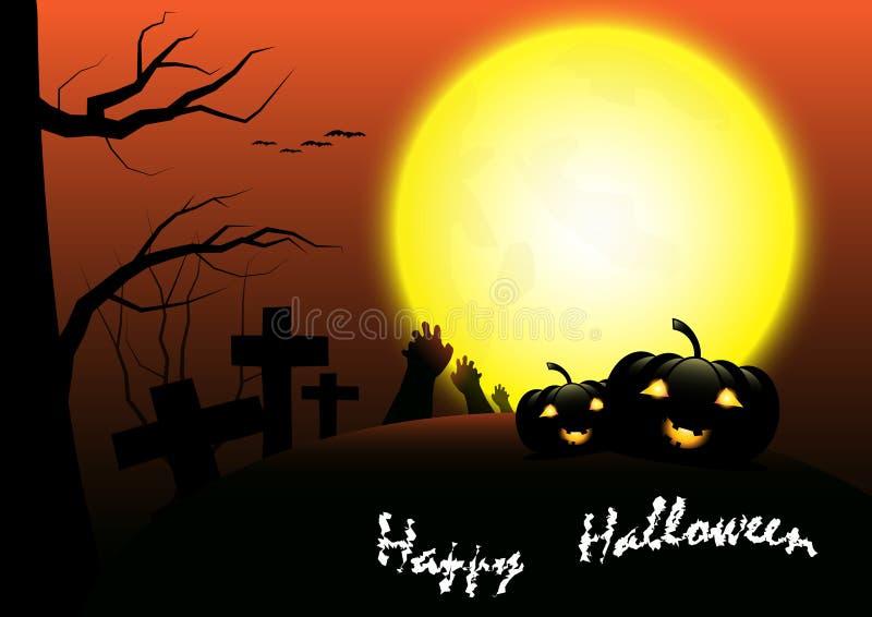 Счастливая предпосылка шаблона вектора хеллоуина стоковое фото rf