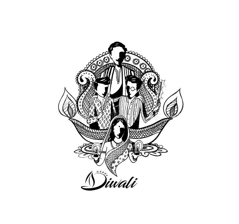 Счастливая предпосылка Diwali творческая для фестиваля Diwali иллюстрация штока