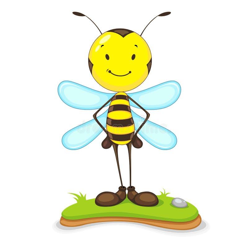 Счастливая пчела иллюстрация штока