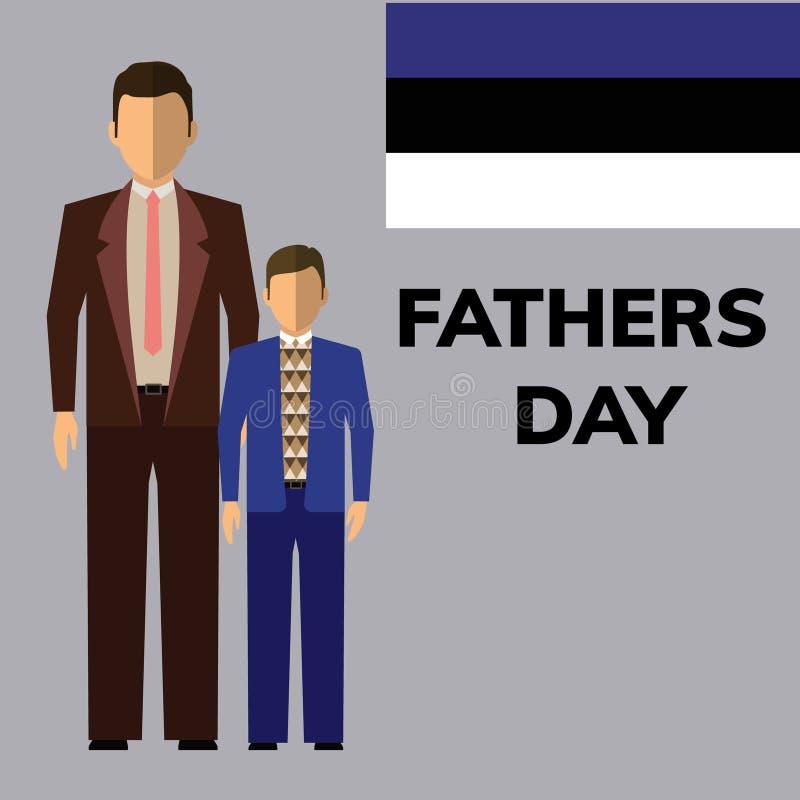 Счастливая рогулька дня отцов стоковое фото rf