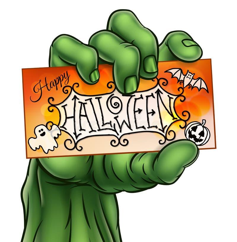 Счастливая рука зомби изверга знака хеллоуина бесплатная иллюстрация
