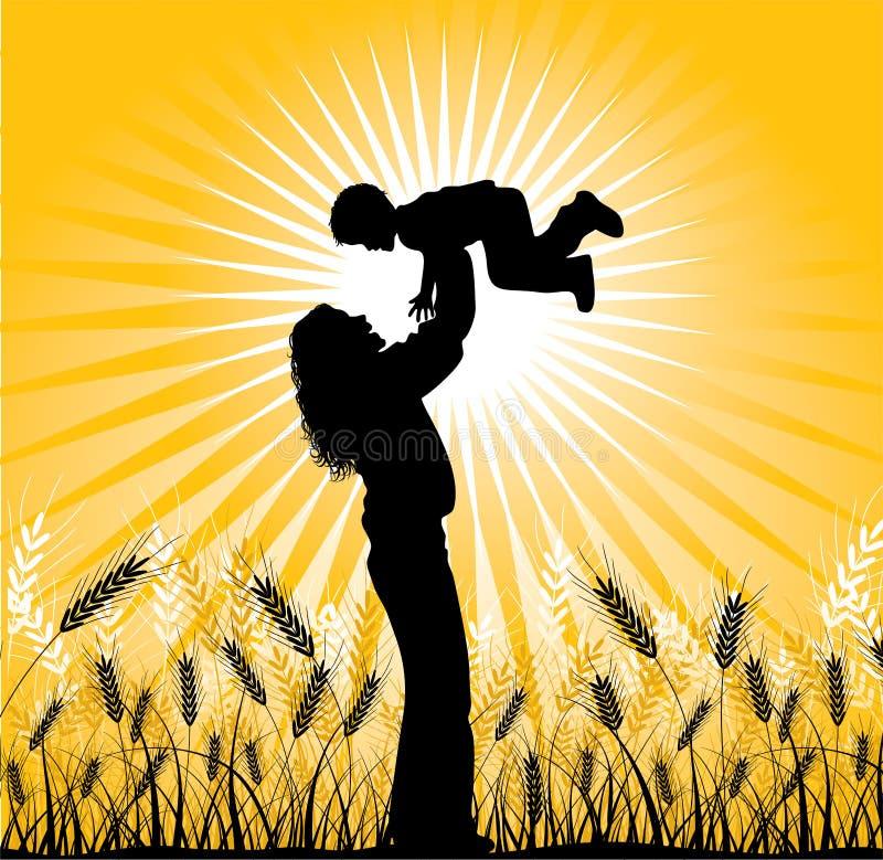 Счастливая семья, вектор бесплатная иллюстрация