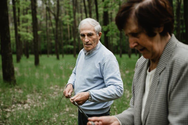 Счастливая старшая семья наслаждаясь тратящ время совместно стоковые фотографии rf