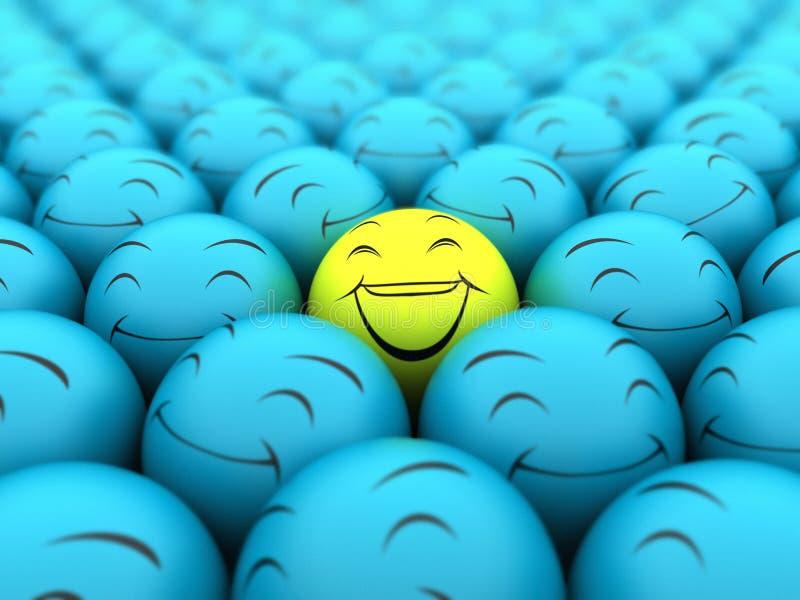 счастливая усмешка иллюстрация вектора