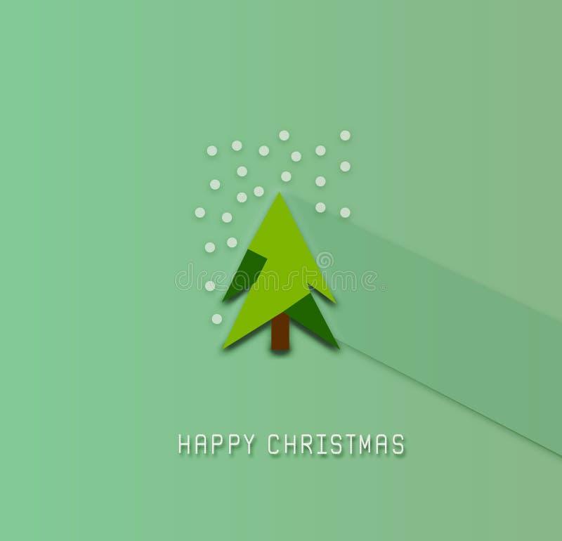 Счастливого рождества, дерево, ilustration стоковые изображения
