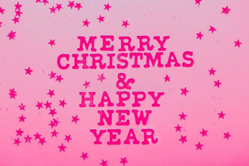 Счастливого Рождества и счастливого Нового года стоковая фотография