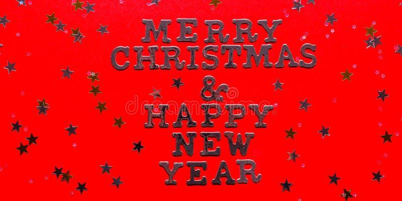 Счастливого Рождества и счастливого Нового года стоковые фотографии rf