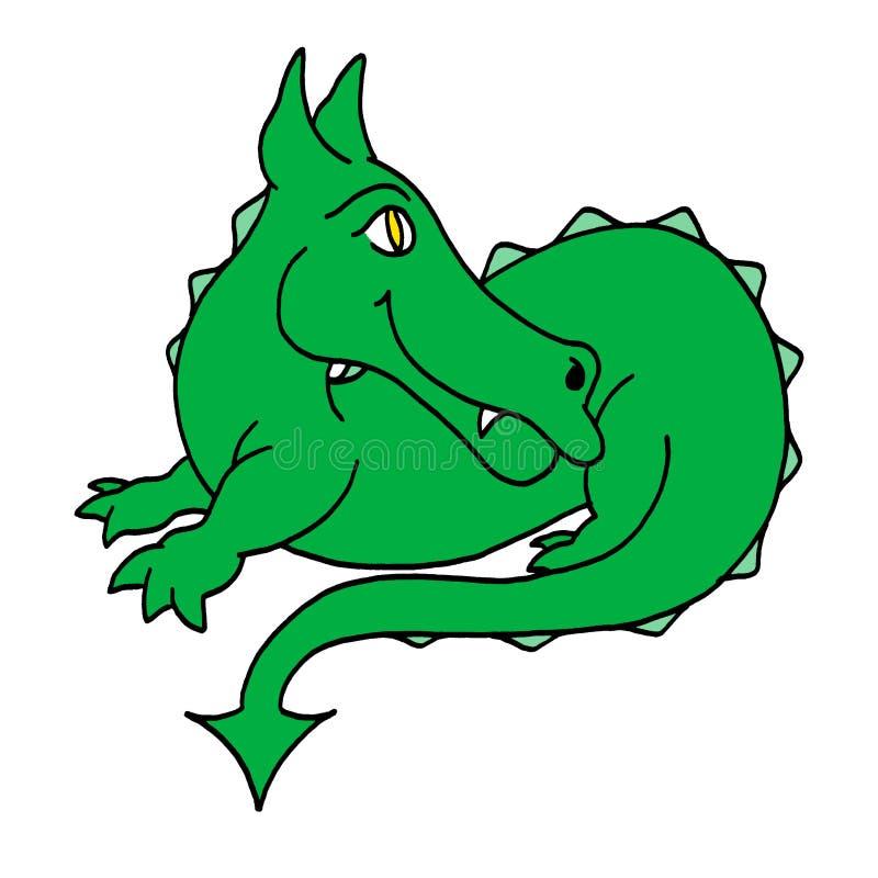 счастливое дракона зеленое стоковая фотография rf