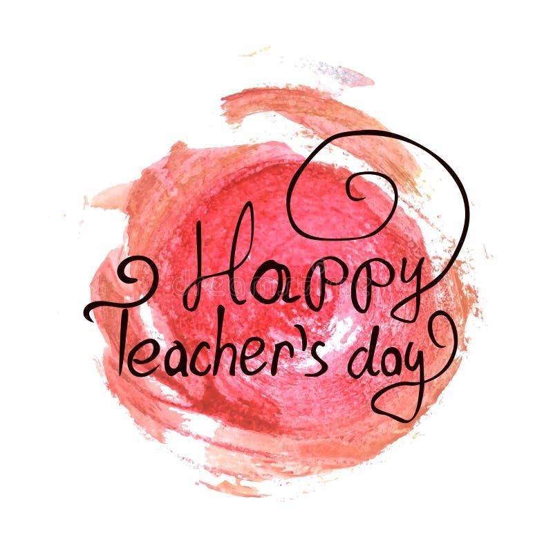 Счастливое оформление вектора дня учителей стоковая фотография rf