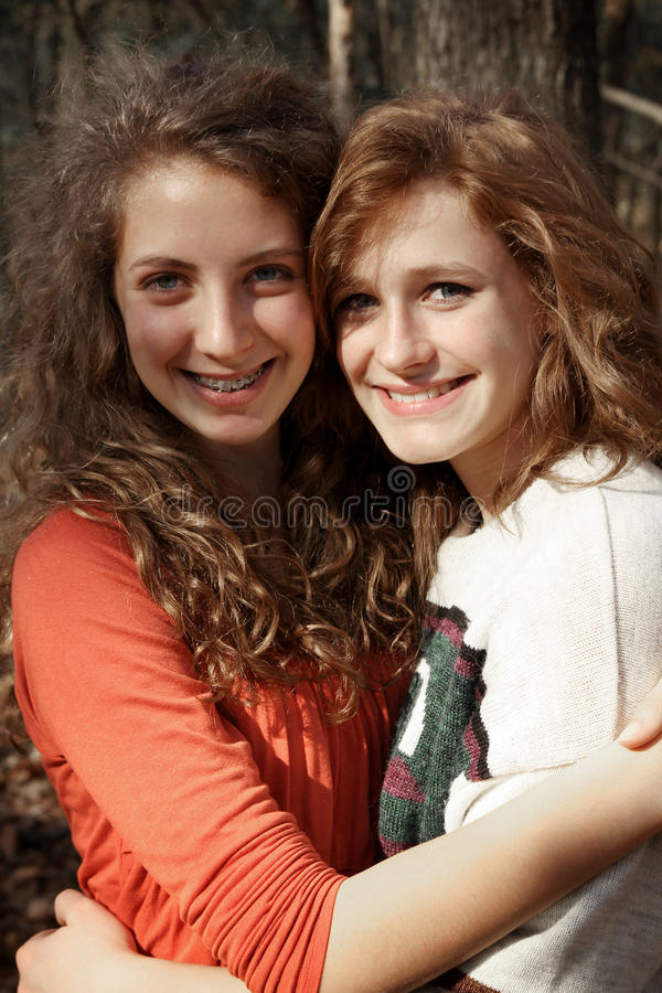 Счастливое предназначенное для подростков стоковая фотография rf