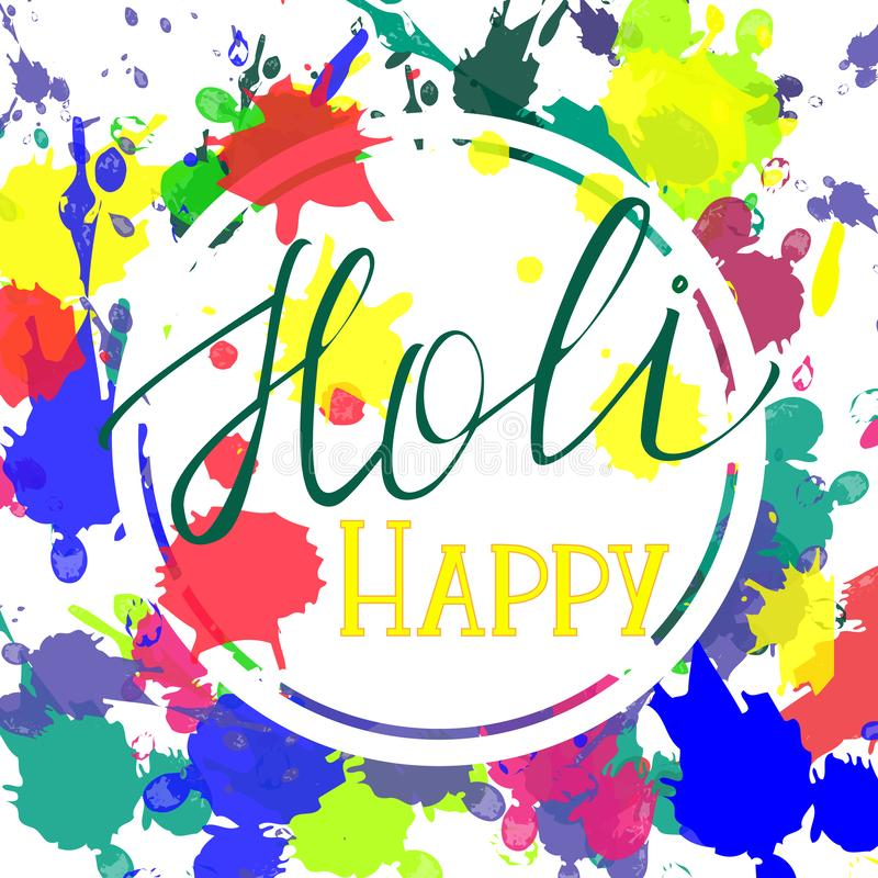Счастливое приветствие Holi иллюстрация штока