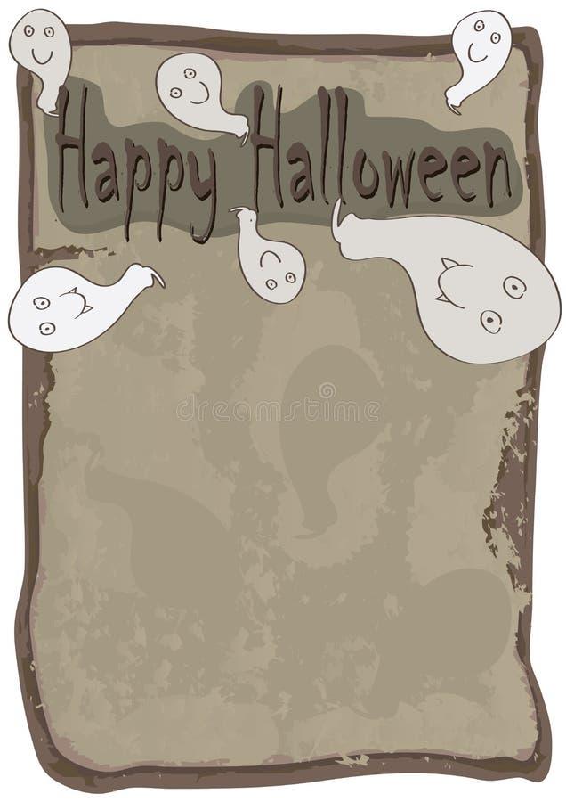 Счастливое привидение Halloween пришло вне Paper_eps иллюстрация вектора