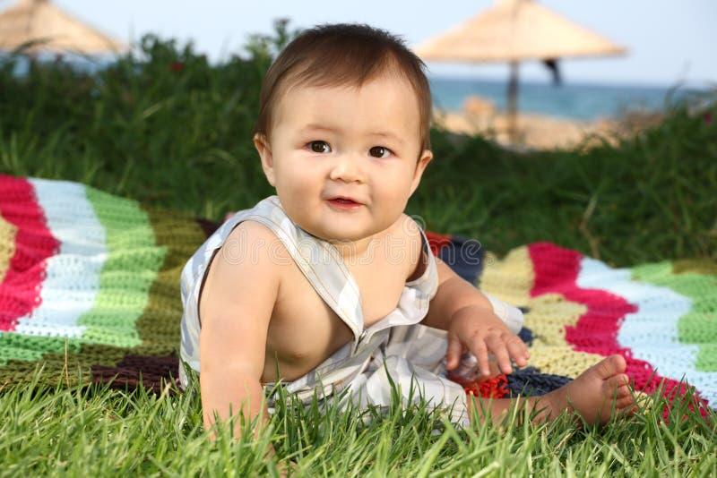 счастливое ребёнка милое стоковая фотография