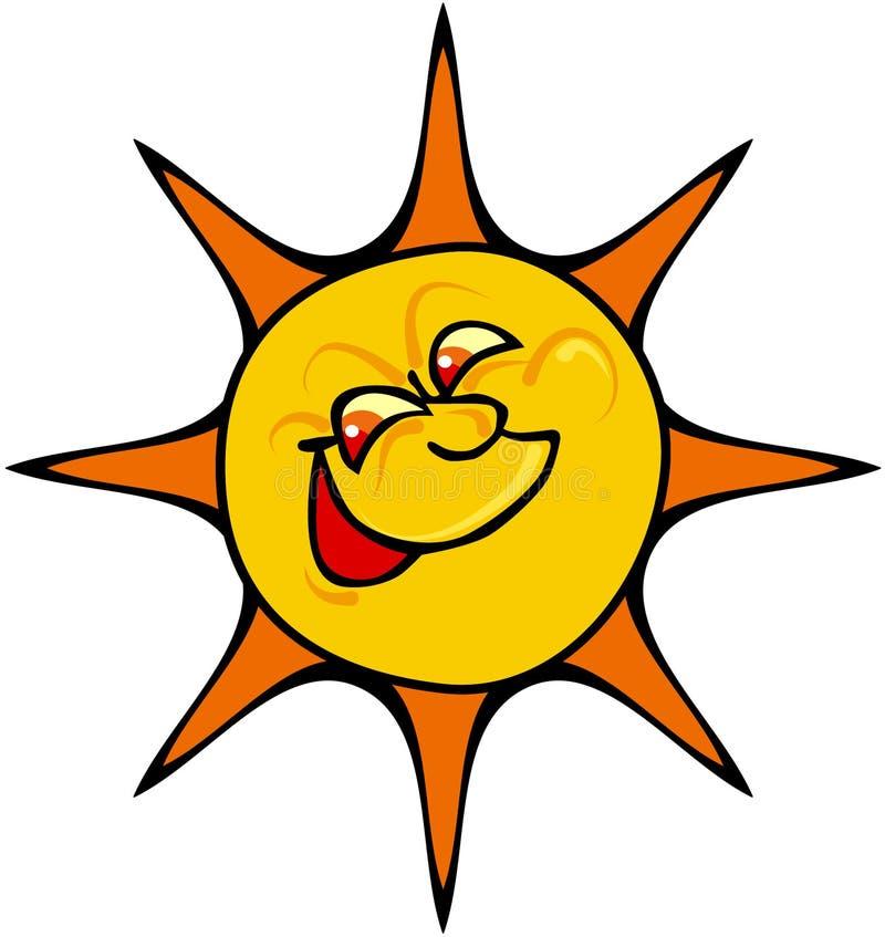 счастливое солнце иллюстрация вектора