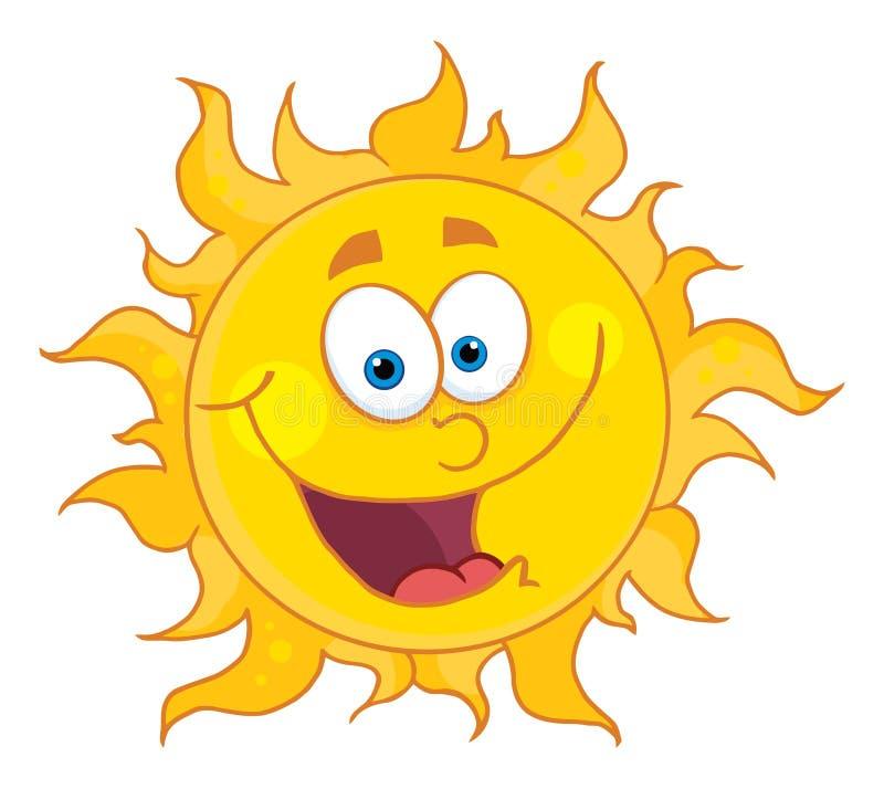 счастливое солнце иллюстрация штока