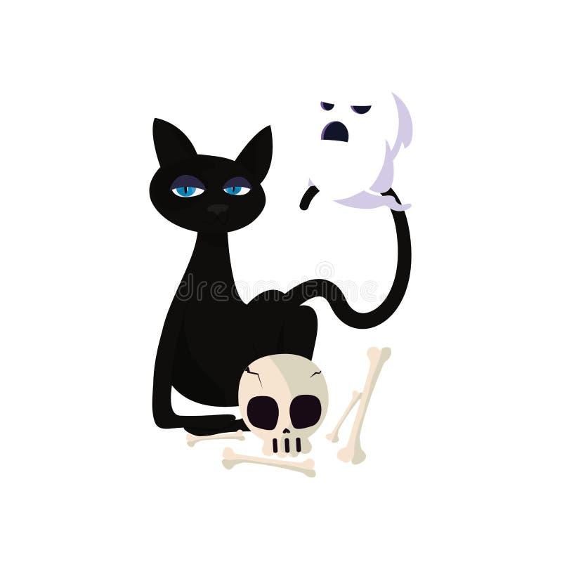 Счастливое торжество хеллоуина бесплатная иллюстрация
