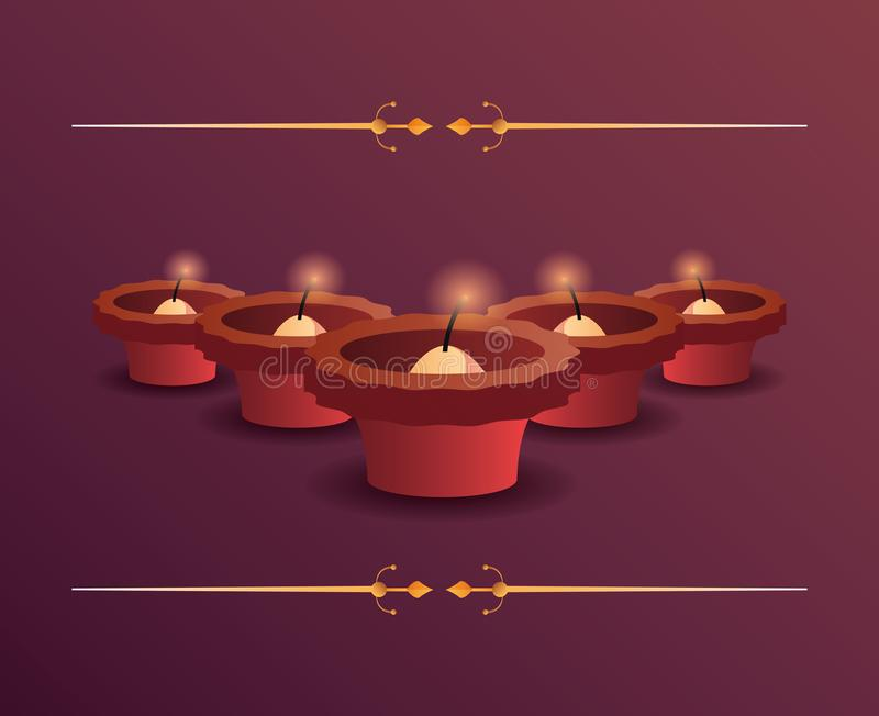 Счастливое торжество Diwali иллюстрация штока