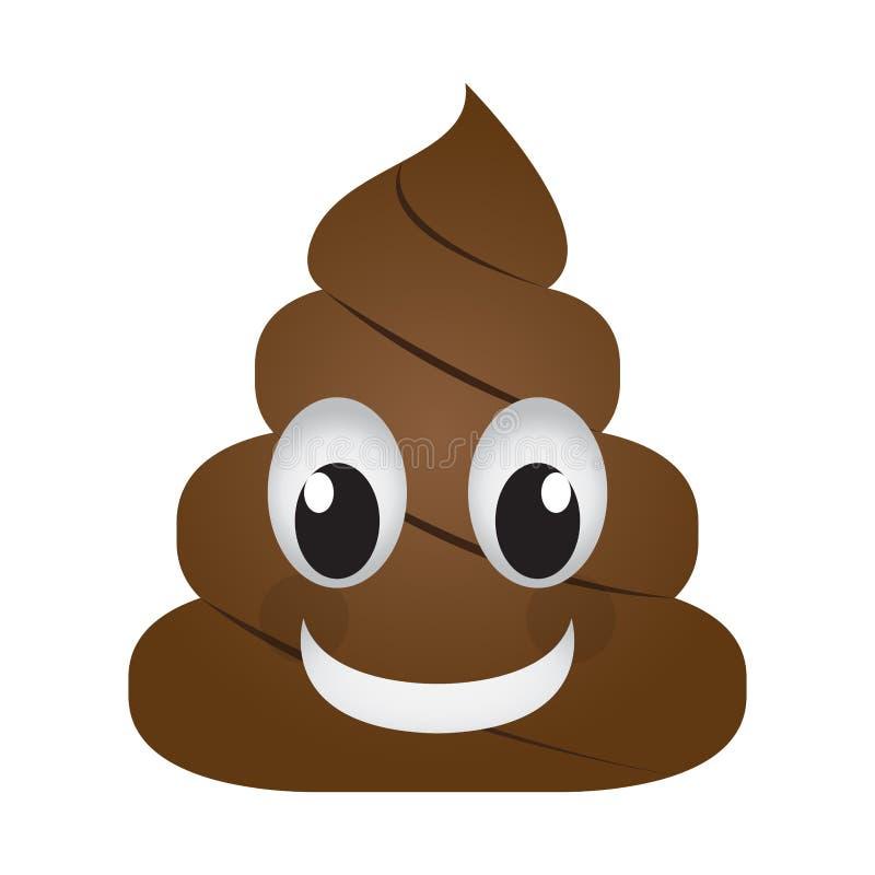 Счастливое emoji кормы стоковые фото