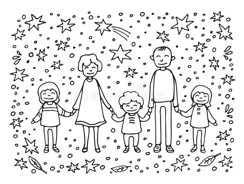 Счастливое family-10 иллюстрация штока