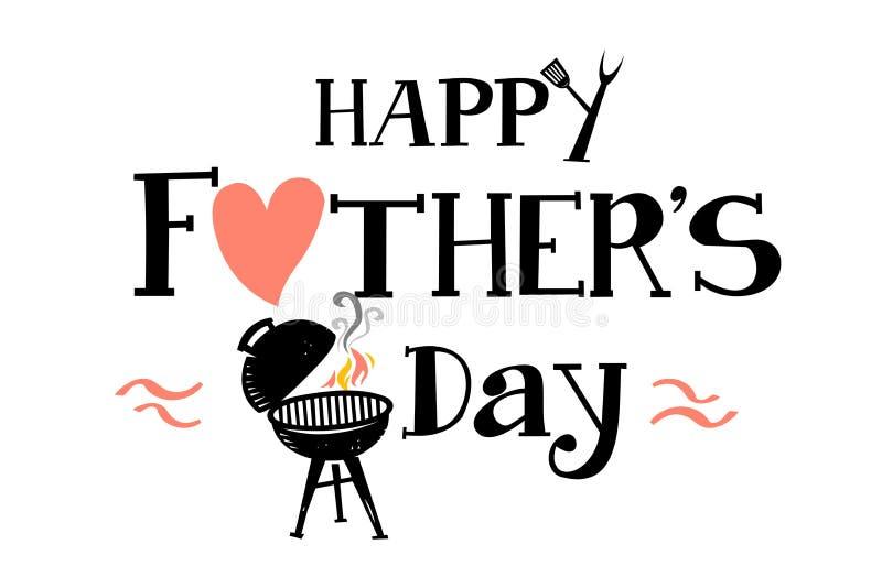 Счастливое Father' день s иллюстрация вектора