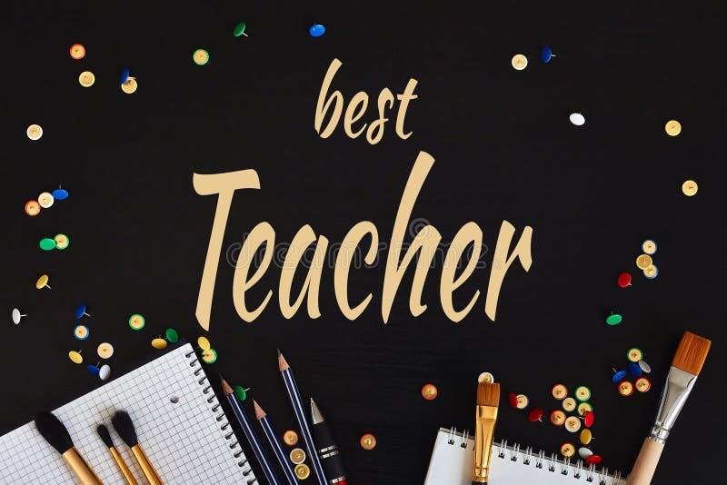 Счастливое Teachers& x27; Поздравительная открытка дня бесплатная иллюстрация