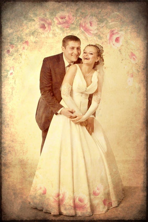 счастливо заново wed стоковое изображение rf
