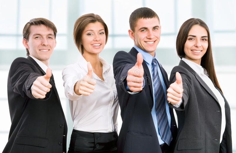 Счастливые бизнесмены стоковое фото rf