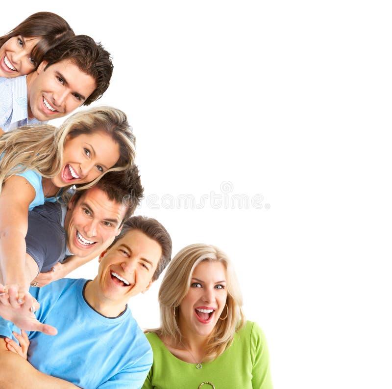 счастливые детеныши людей стоковое фото