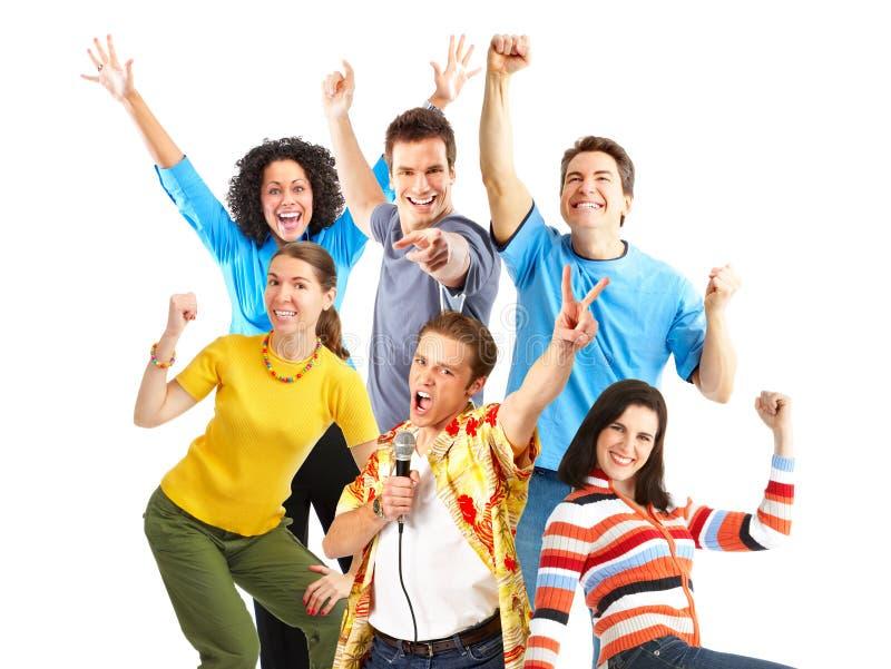 счастливые детеныши людей стоковое изображение