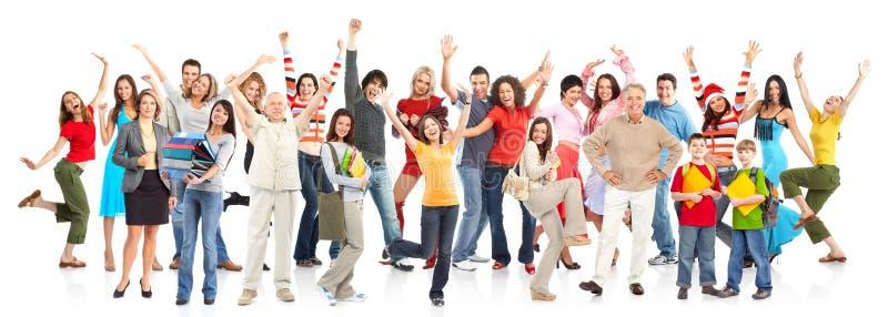 счастливые люди стоковая фотография