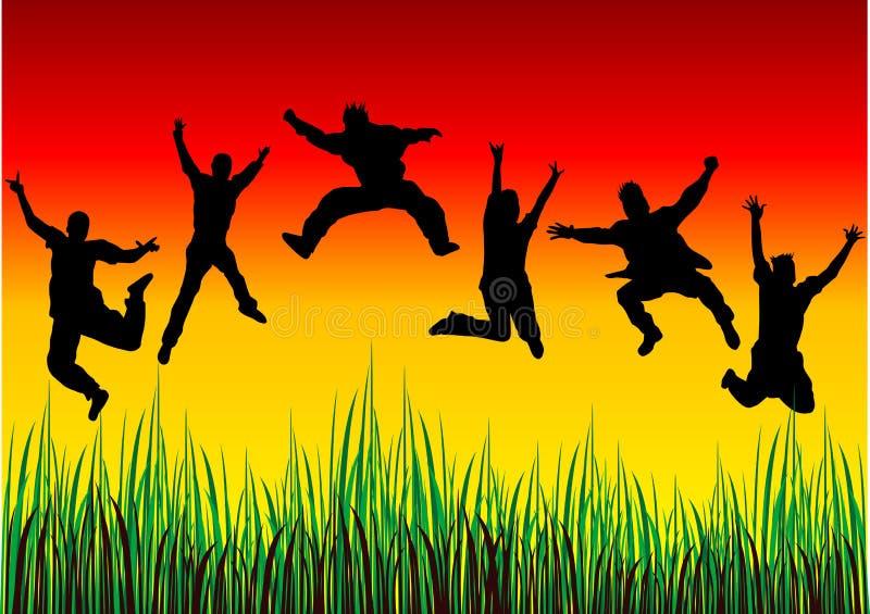 счастливые люди иллюстрация вектора