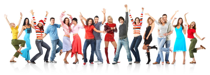 счастливые люди стоковая фотография rf
