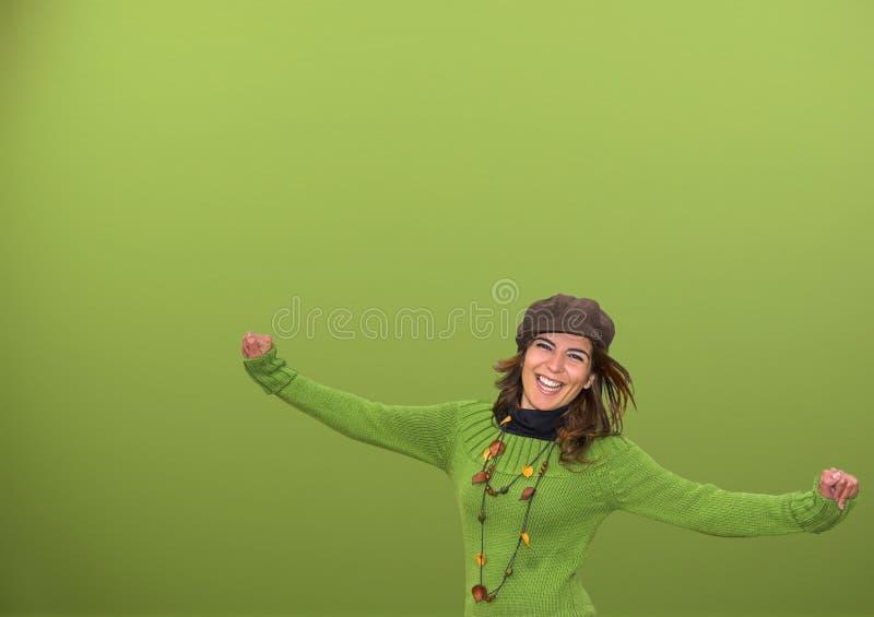 счастливые людские детеныши стоковая фотография rf
