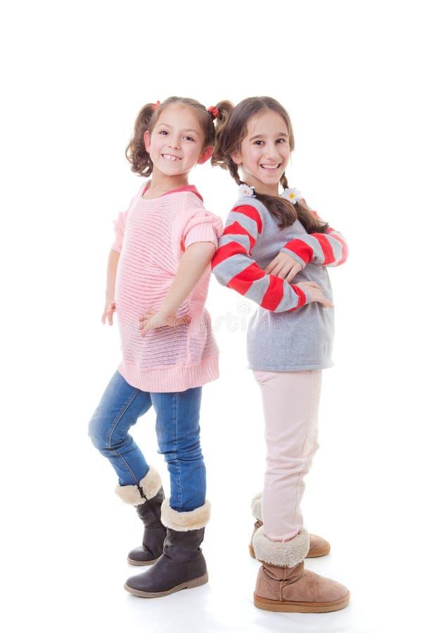 Счастливые маленькие девочки стоковые фото