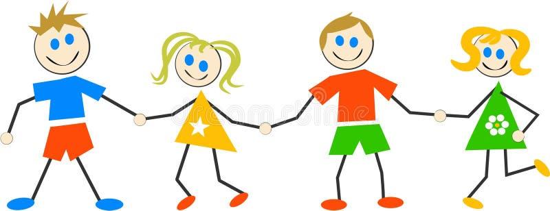 Download счастливые малыши иллюстрация вектора. иллюстрации насчитывающей ребенок - 87509