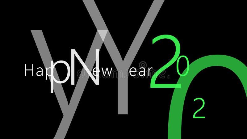 Счастливые Новые Годы 2020 прекрасной легкой идеи проекта иллюстрация вектора