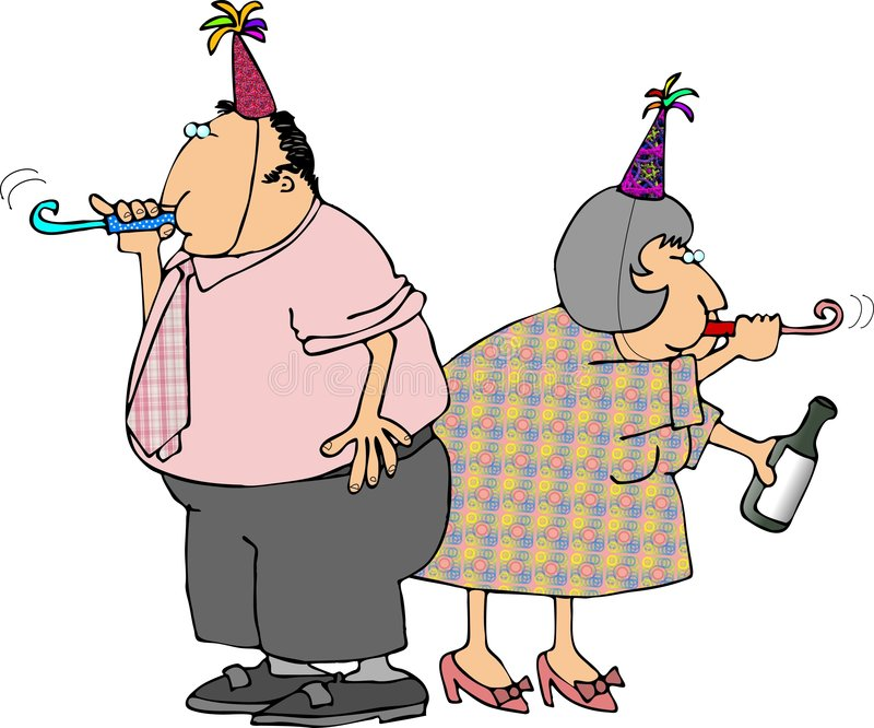 счастливые Новый Год бесплатная иллюстрация
