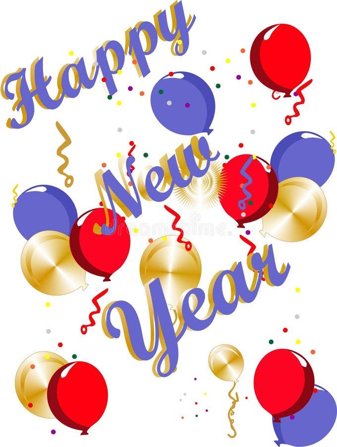 счастливые Новый Год иллюстрация вектора