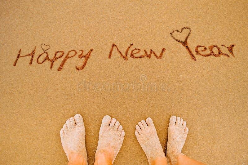 Счастливые ноги Нового Года и любовника стоковое фото rf