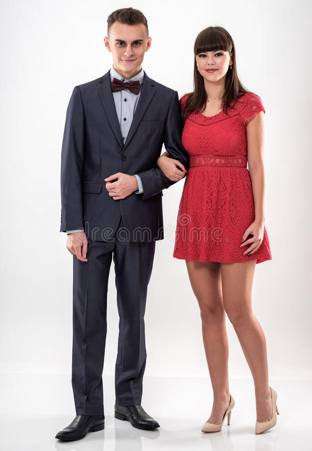 Счастливые пары подростков стоковое изображение