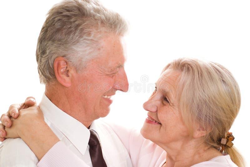 Счастливые пожилые пары стоковые изображения