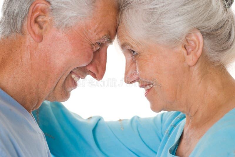 Счастливые пожилые пары стоковые фотографии rf