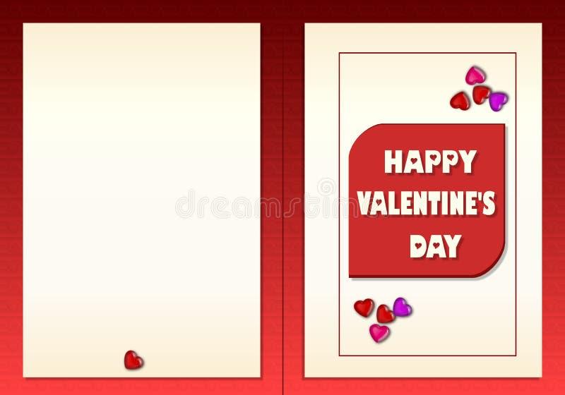 счастливые valentines иллюстрация штока
