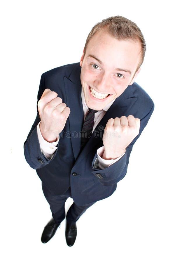 Счастливый бизнесмен стоковое изображение